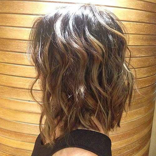 Brunette Wavy Bob Hairstyles