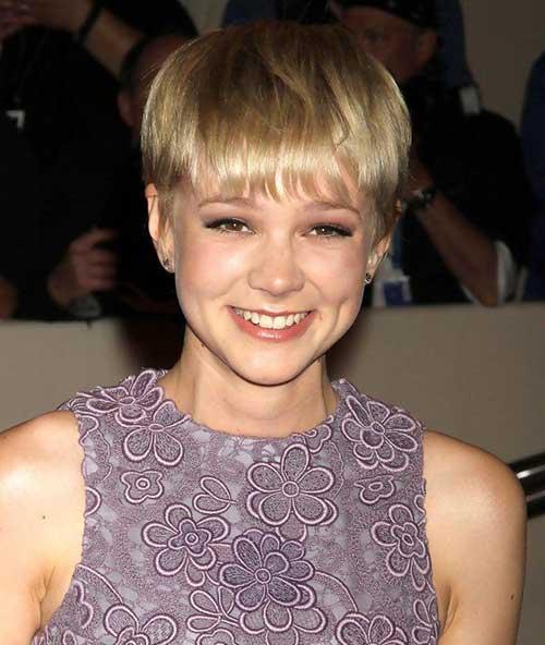 Carey Mulligan Blonde Pixie Cut