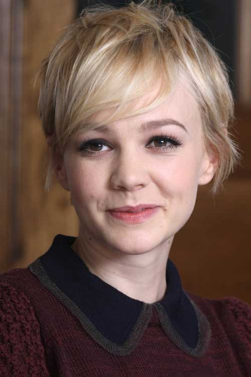 Carey Mulligan Long Pixie Hair
