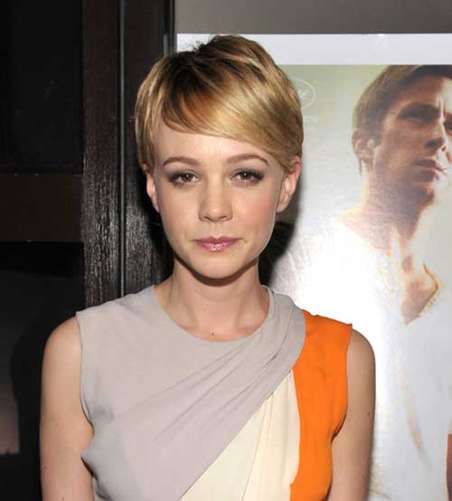 Carey Mulligan Short Pixie Hair Cut