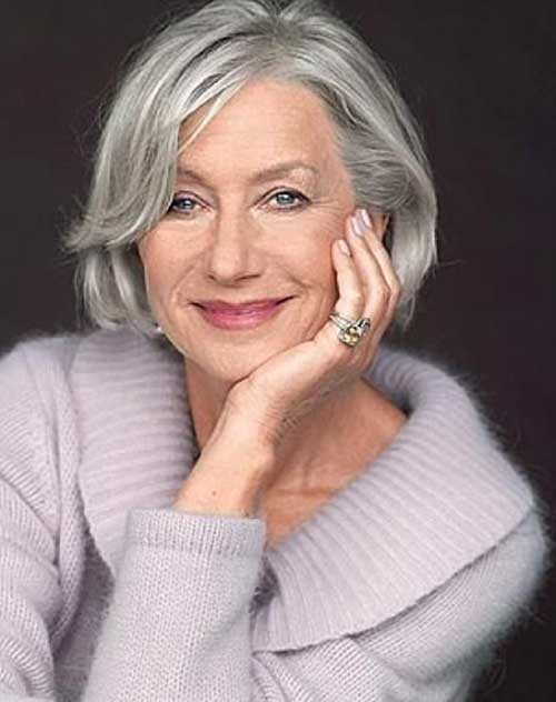 Casual Grey Hair Cut for Women Over 50