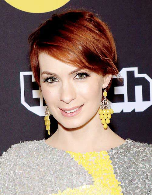 Felicia Day Haircut 10 Best Pixie Red Hair...