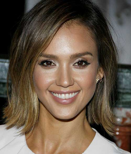 Choppy Brunette Bob Hairstyles
