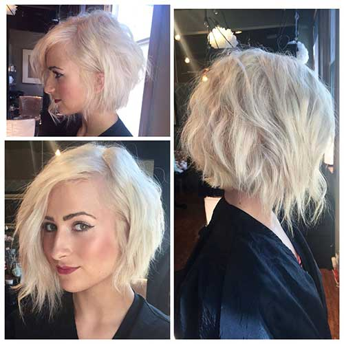 Choppy Layered Inverted Bob Haircuts
