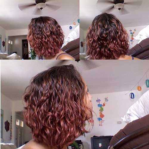 Curly Short Red Hairstyles 2014