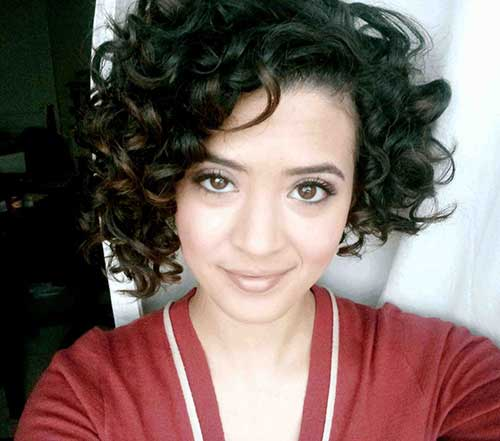 Cute Asymmetrical Short Haircuts for Curly Hair 2015