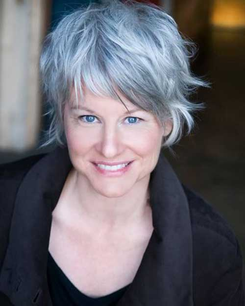 Best Cute Grey Hair for Layered Short Hairstyles