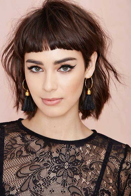 Miraculous Cute Hairstyles With Short Hair And Bangs Short Hair Fashions Short Hairstyles For Black Women Fulllsitofus