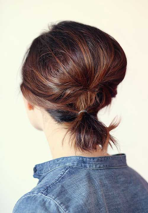 Cute Ponytail for Short Hair Girl