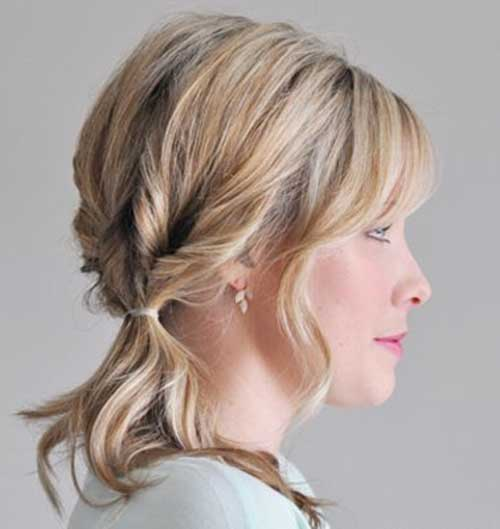 Outstanding 10 Cute Ponytails For Short Hair Short Hairstyles 2016 2017 Short Hairstyles Gunalazisus