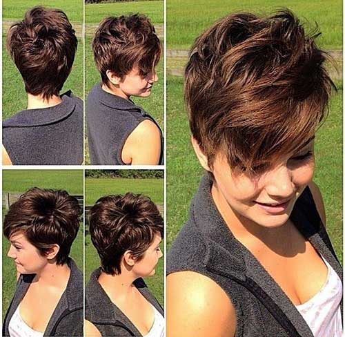 Cute Short Cut Layered Hairstyles