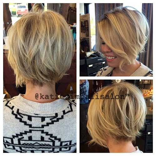 Cute Short Layered Hair Back View