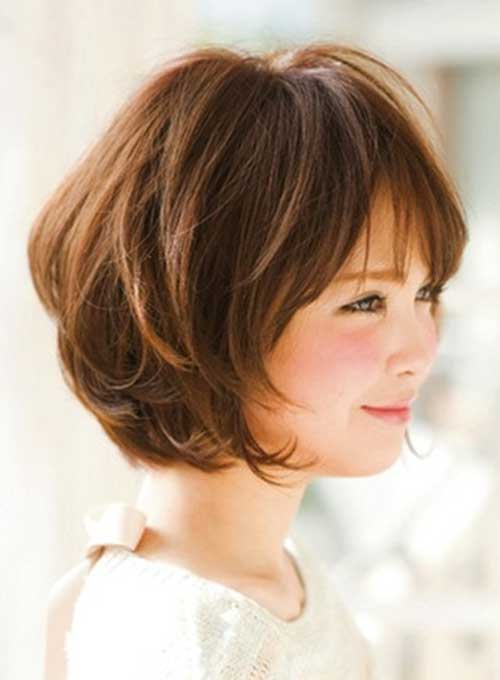 Cute Thick Hair with Short Layered Style