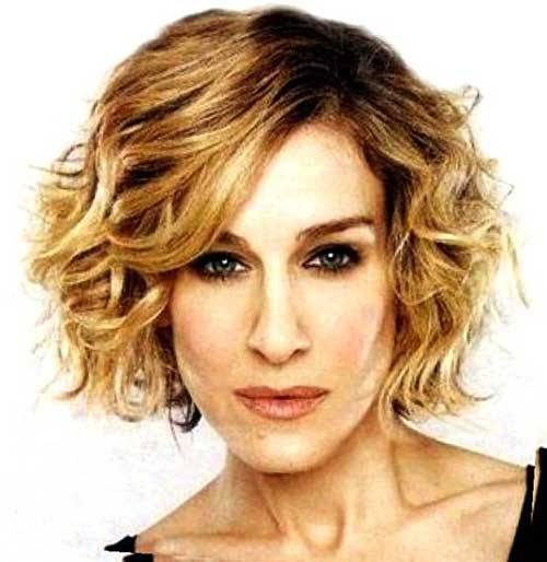 Dark Brown Short Wavy Curly Hairstyles