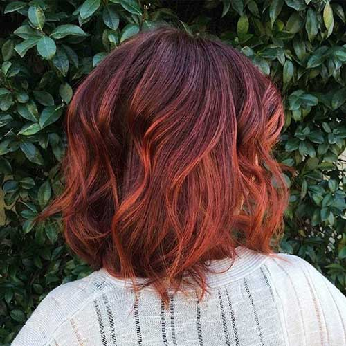 Dark Red Color Bob Ideas
