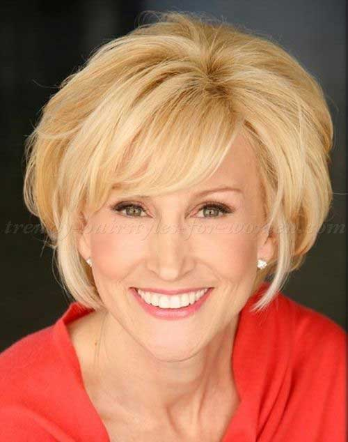 Fine Short Blonde Bob for Women Over 50