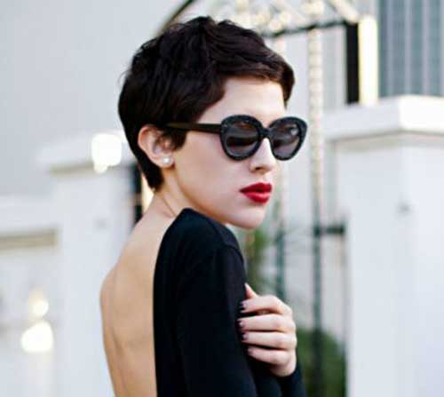 Girls Dark Colored Short Haircuts