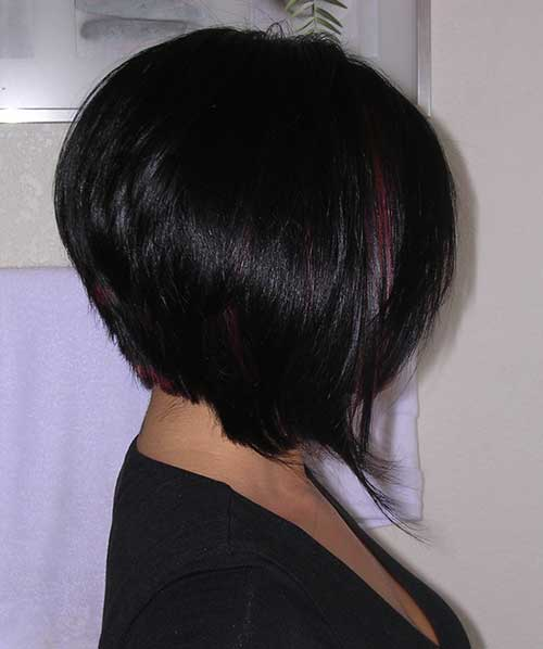 Graduated Dark Bob Hairstyle Pics