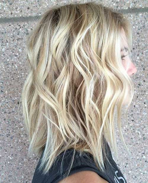 Blonde Hair Color Ideas for Wavy Bob Hairstyles
