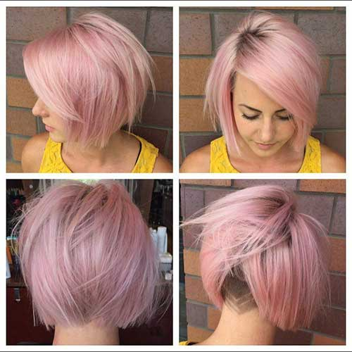 Pink Blonde Hair Color for Short Hair