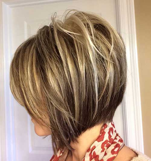 Highlighted Inverted Bob Hairstyles
