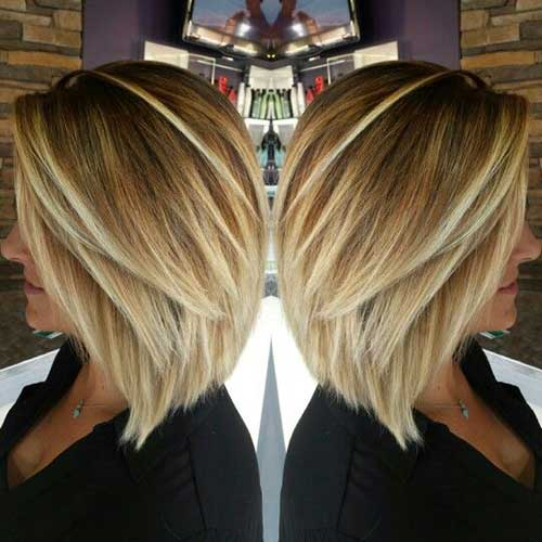 Inverted Blonde Bob Haircut