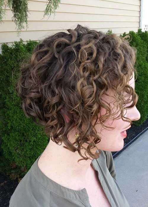 Inverted Short Bob Haircuts for Curly Hair 2015
