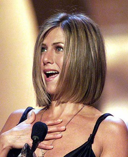 Jennifer Aniston Ash Blonde Bob Haircuts