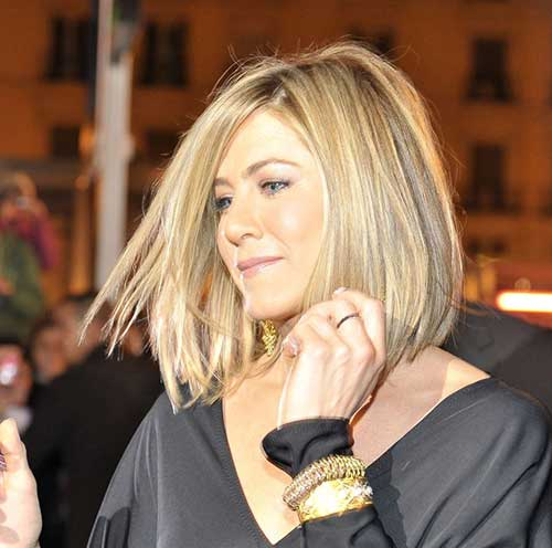 Jennifer Aniston Long Bob Haircut Pictures