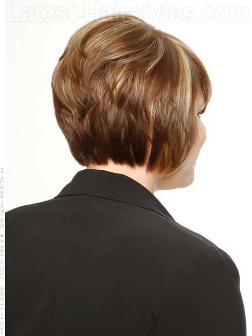 Layered Back Short Bob Haircuts for Women