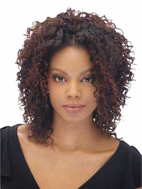 Layered Curly Weave Short Hairstyles