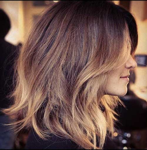 Layered Long Balyage Bob Styles