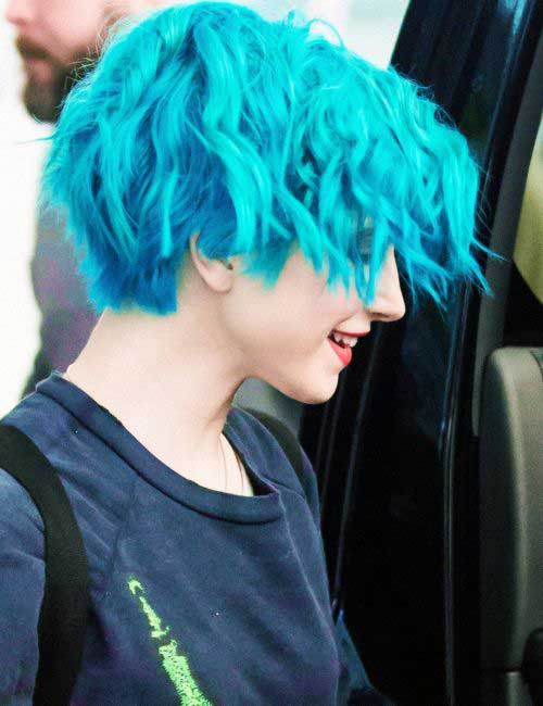 Light Blue Pixie Hairstyles