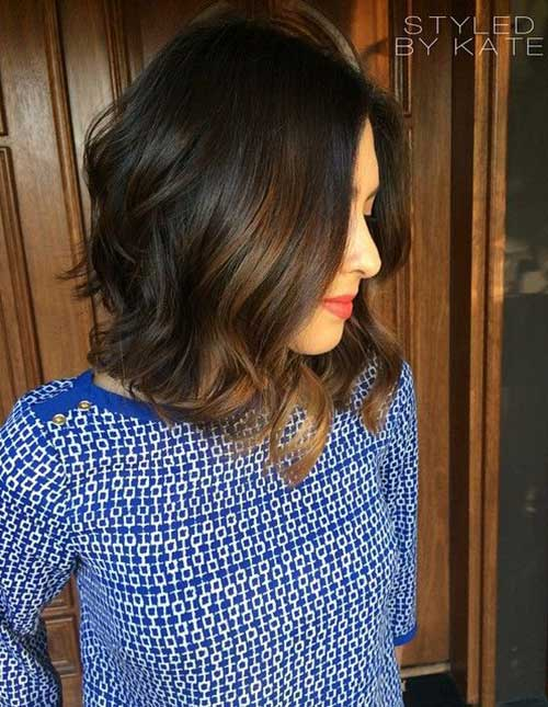 Long Bob Hair Color Idea