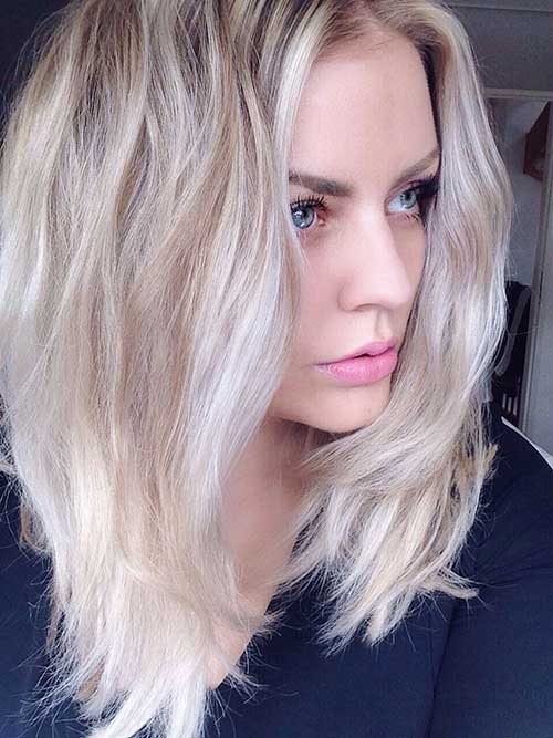25 best long bob hair short hairstyles 2017 2018 for Silberblond haarfarbe
