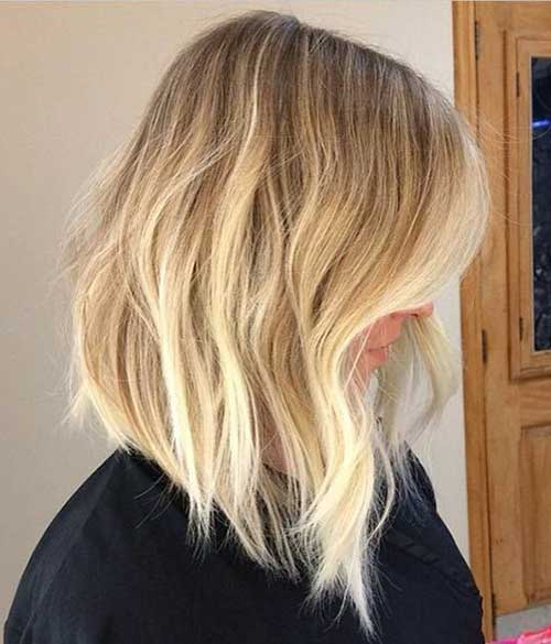 Long Bob Blonde Sombre Color