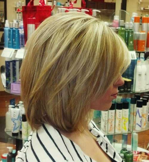 Long Highlighted Bob Hair