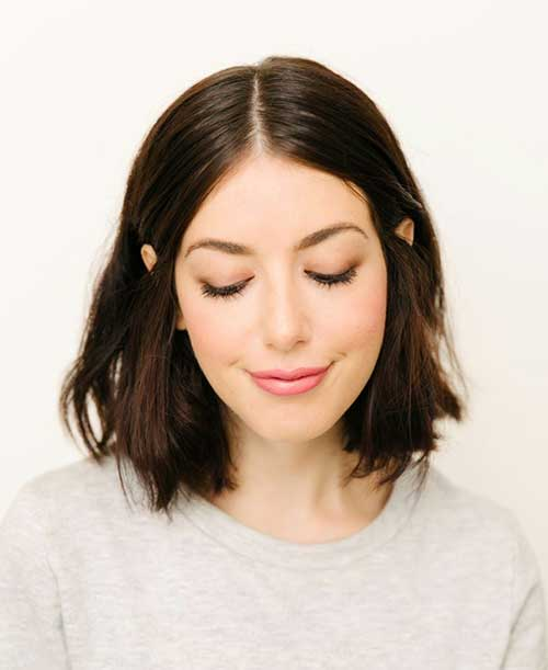 Messy Brunette Bob Hairstyles