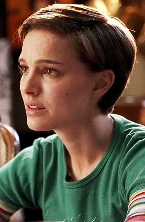 Natalie Portman Fine Hair Pixie Cuts