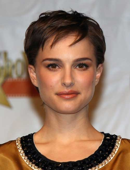Natalie Portman Layered Pixie Cuts