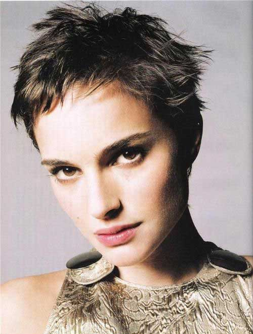 Natalie Portman Messy Pixie Cuts