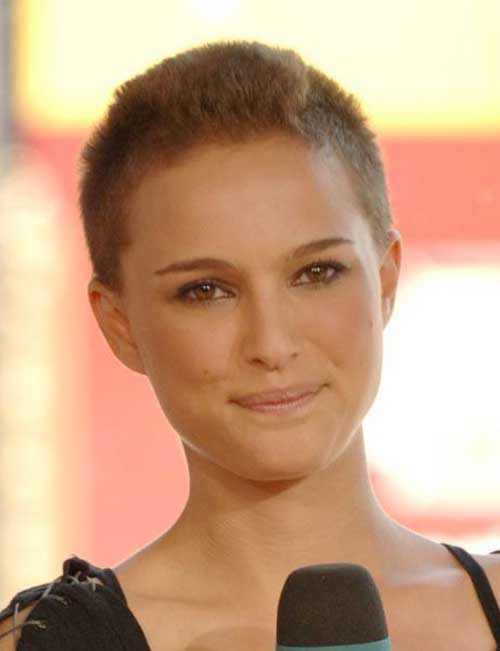 Natalie Portman Super Short Pixie Hair