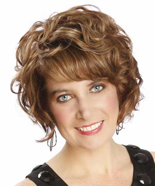 Natural Curly Short Hairstyles for Oval Faces
