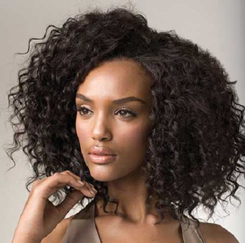 Natural Curly Weave Black Hairstyles