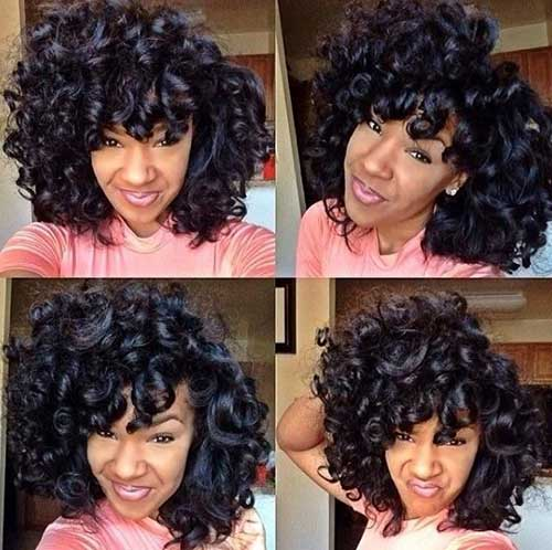 Nice Curly Weave Short Hairstyles