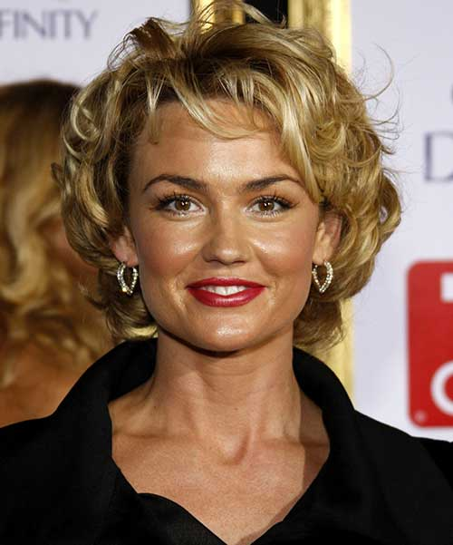 Older Women Short Curly Hairstyles for Round Faces
