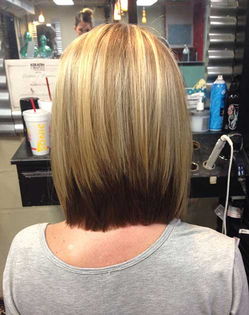 Ombre Color Inverted Bob Haircuts