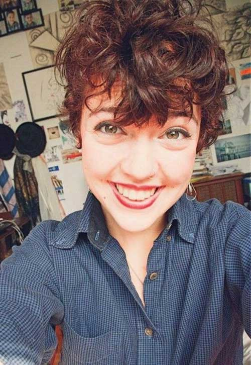 Oval Face Short Haircuts for Curly Hair 2014-2015