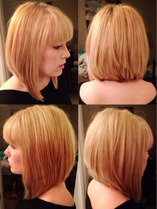 Pictures Of Inverted Bob Hairstyles with Bangs