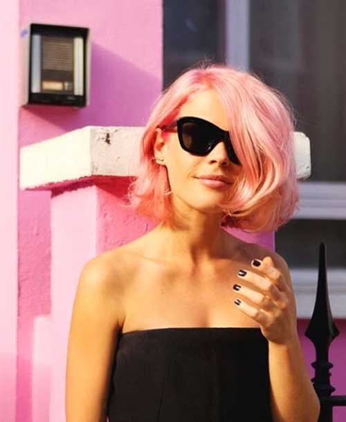 Pink Blonde Bob Hair Cuts